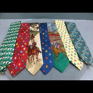Lot of 7 Men's Equestrian Necktie Like New